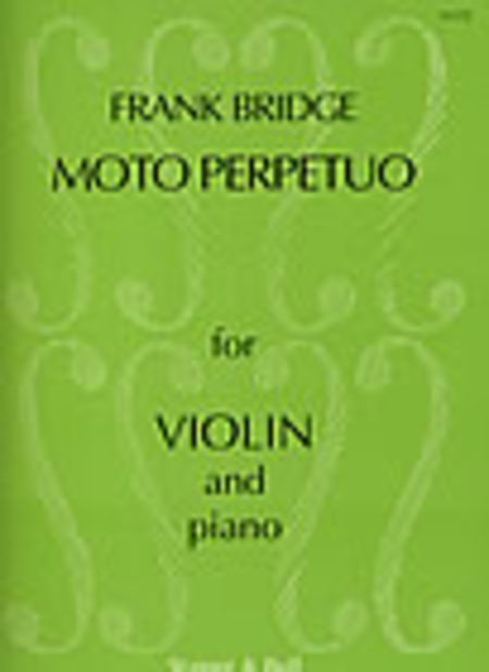 Three Pieces for Violin and Piano, Moto Perpetuo