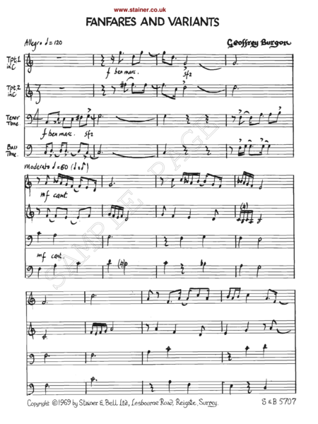 Fanfares and Variants on the Agnus Dei from Mass by Guillaume de Machaut