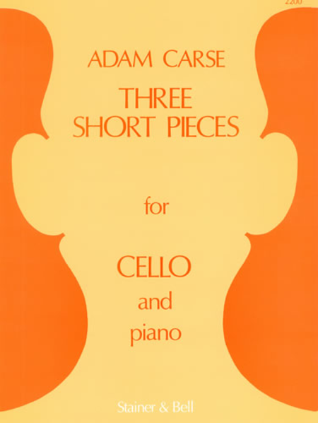 Three Short Pieces for Cello and Piano