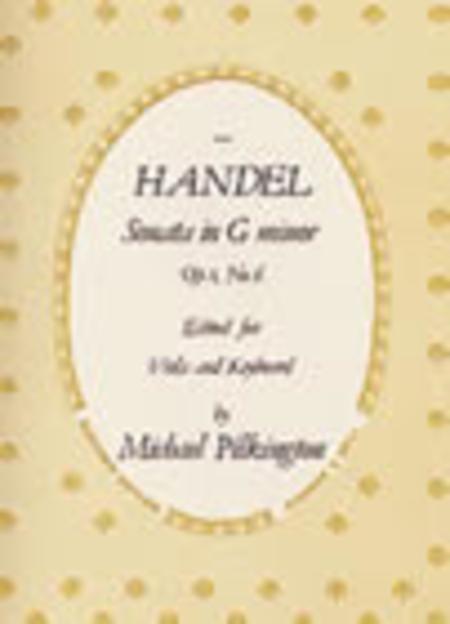 Sonata in G minor, Op. 1, No. 6 for Viola and Piano