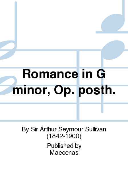 Romance in G minor, Op. posth.