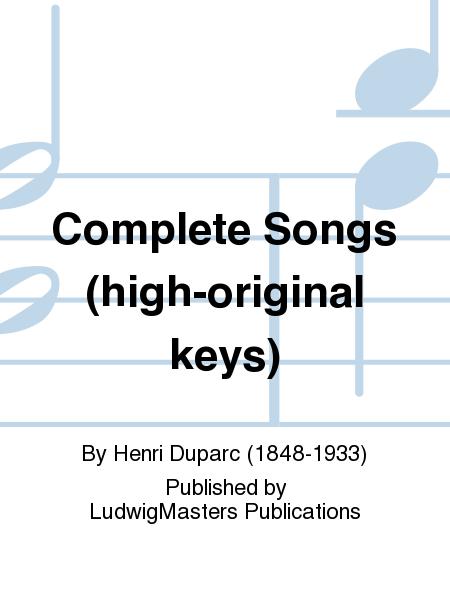 Complete Songs (high-original keys)
