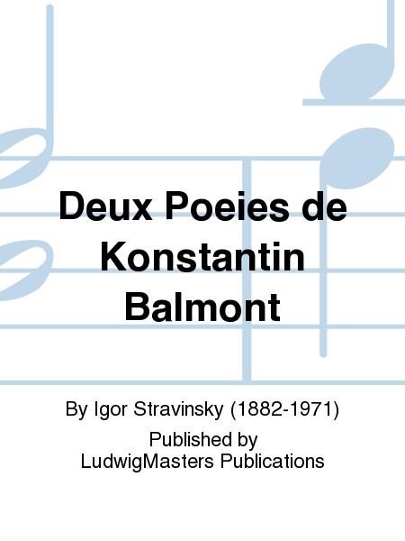 Deux Poeies de Konstantin Balmont