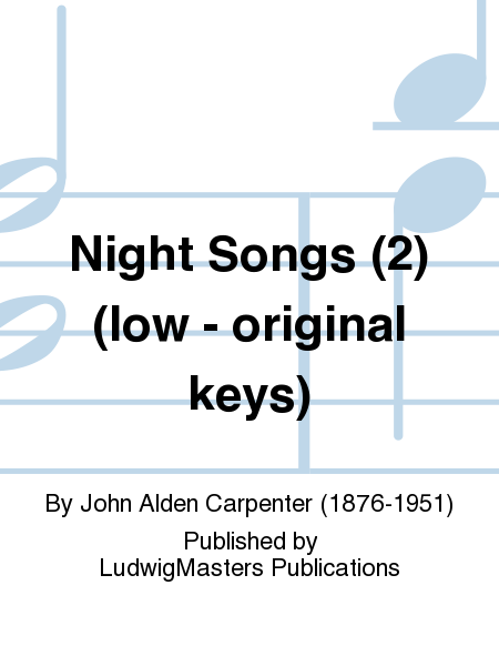 Night Songs (2) (low - original keys)
