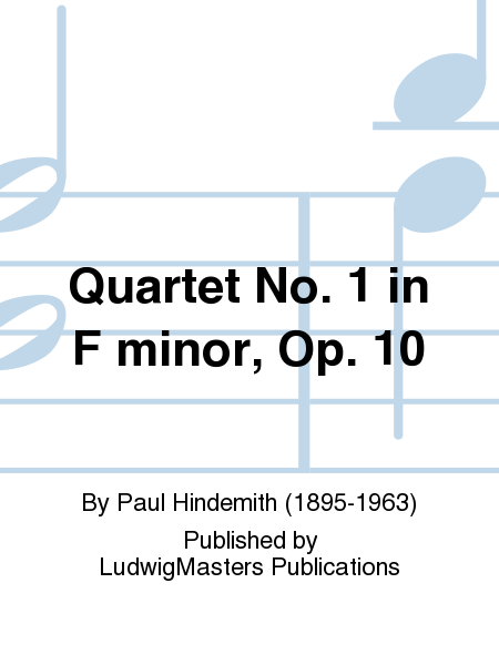 Quartet No. 1 in F minor, Op. 10