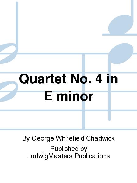 Quartet No. 4 in E minor