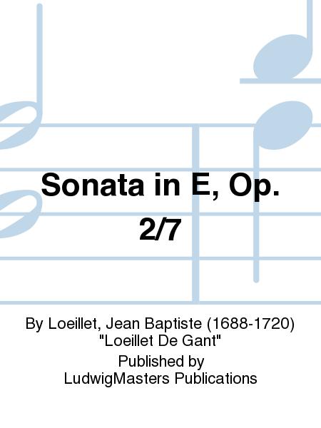 Sonata in E, Op. 2/7