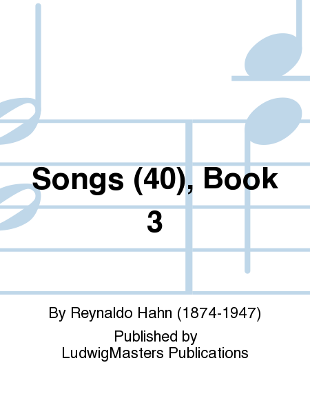 Songs (40), Book 3
