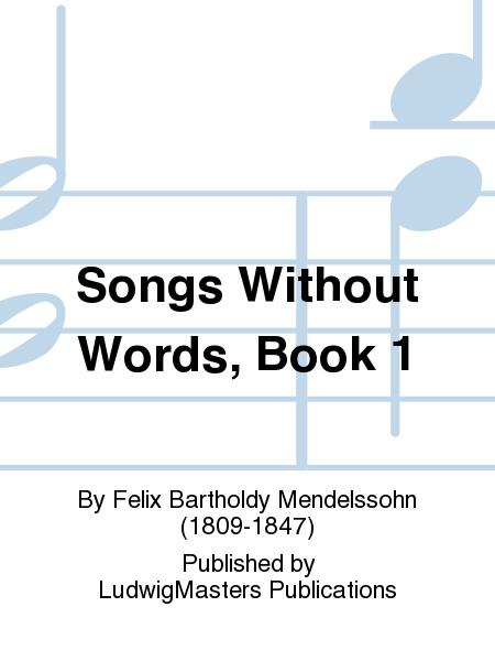 Songs Without Words, Book 1