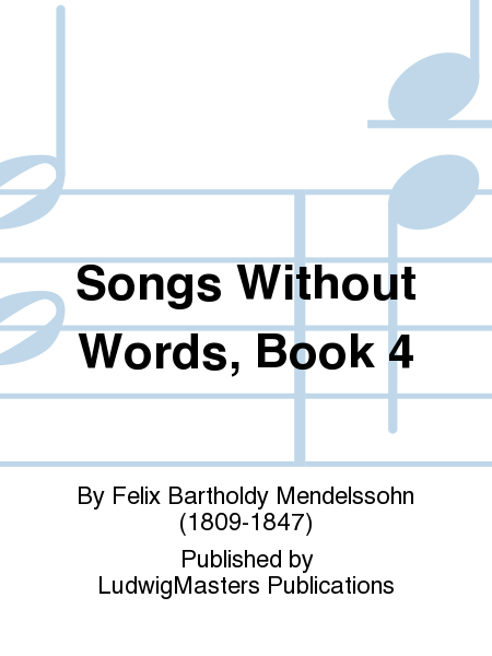 Songs Without Words, Book 4
