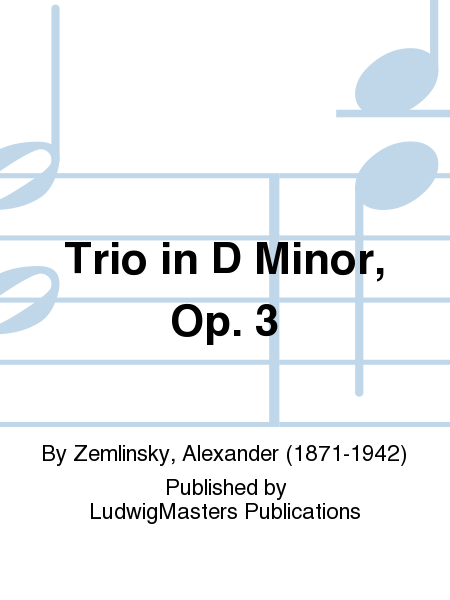 Trio in D Minor, Op. 3