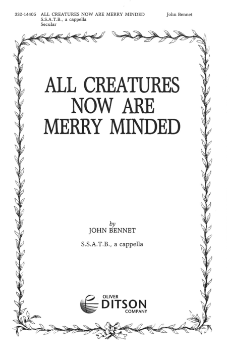 All Creatures Now Are Merry Minded
