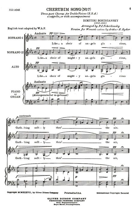 Cherubim Song (No. 7)`