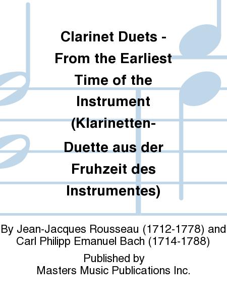 Clarinet Duets - From the Earliest Time of the Instrument (Klarinetten-Duette aus der Fruhzeit des Instrumentes)