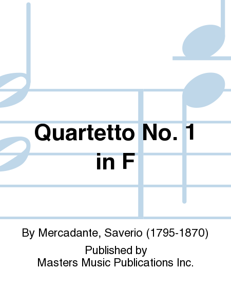 Quartetto No. 1 in F