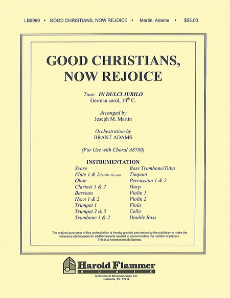 Good Christians, Now Rejoice (from Voices Of Xmas) (orch For A8780)