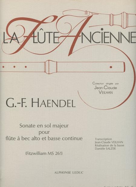 Sonate en Sol Majeur - Flute a Bec Alto et Bc