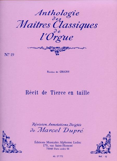 Recit de Tierce en Taille - Clas No.19/Orgue