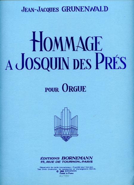 Hommage a Josquin Des Pres - Orgue