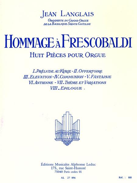 Hommage a Frescobaldi - Orgue