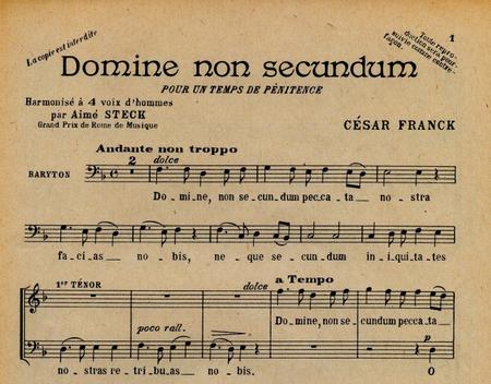 Domine Non Secundum(Offertoire Pour Le Careme) - 4 Voix (Hommes) Sans Accompagnement