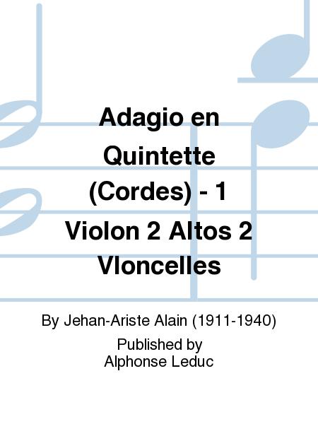 Adagio en Quintette (Cordes) - 1 Violon 2 Altos 2 Vloncelles