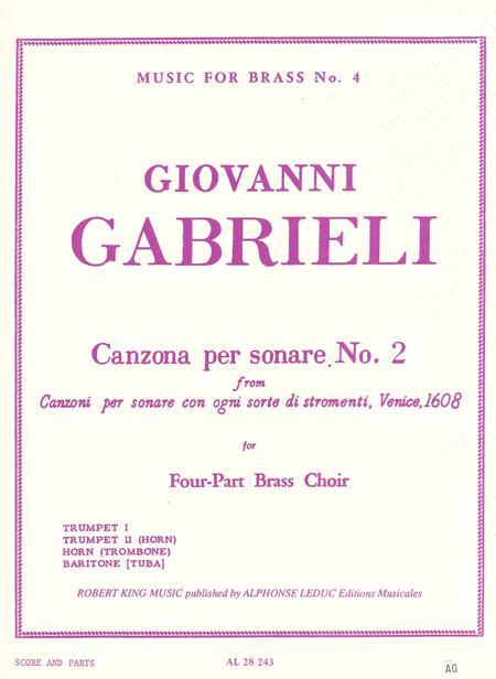 Canzona Per Sonare No.2 - Brass Quartet