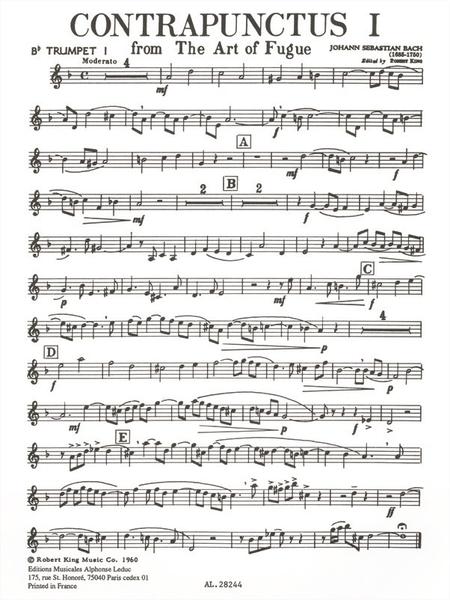 Art Of Fugue/Contrapunctus 1 - Brass Quintet