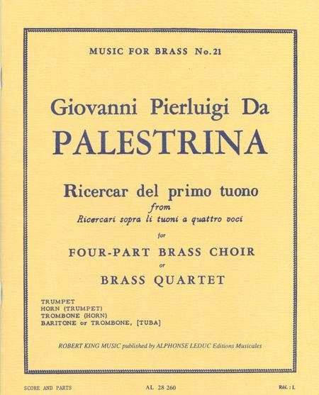 Ricercar Del Primo Tuono - Brass Quartet