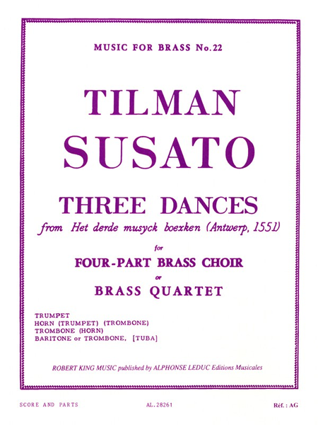 3 Danses - Brass Quartet