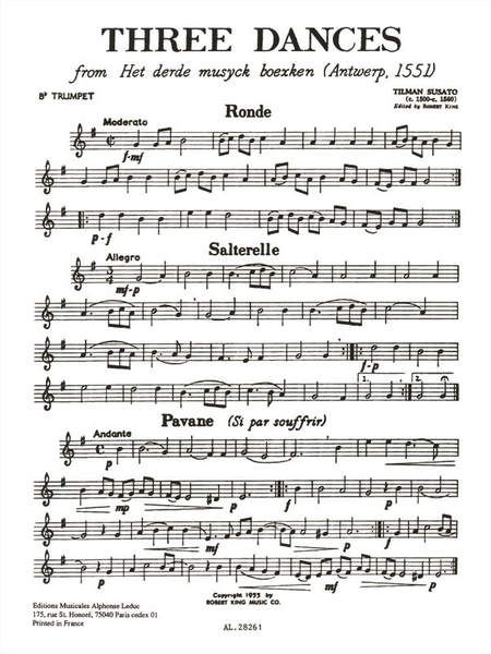 3 Danses - Brass Quartet