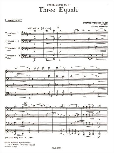 3 Equali - 4 Trombones