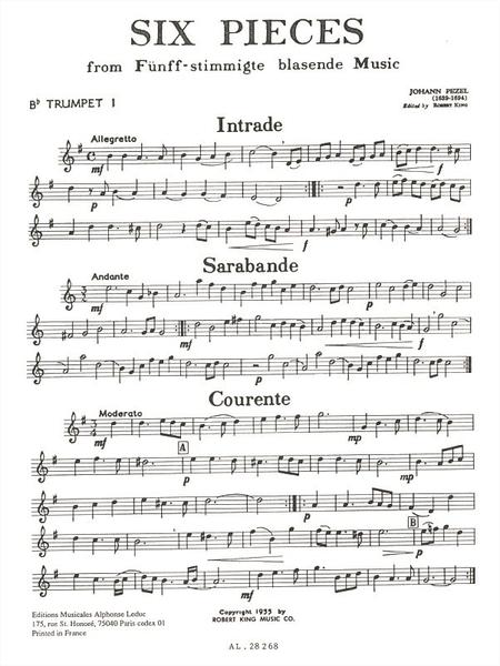 6 Pieces (5 Part Brass Music) - Brass Quintet