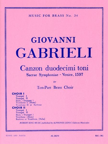 Canzon Duodecimi Toni - 2 Brass Ensembles