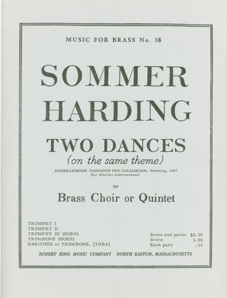 2 Dances On The Same Theme - Brass Quintett