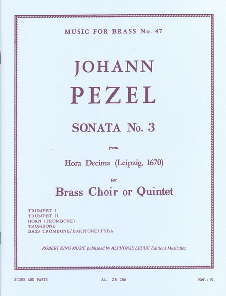 Sonata No.3 (Hora Decima) - Brass Quintet