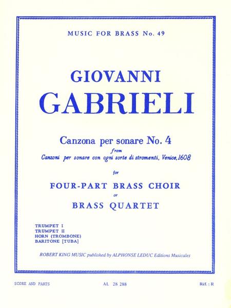 Canzona Per Sonare No.4 - Brass Quartet