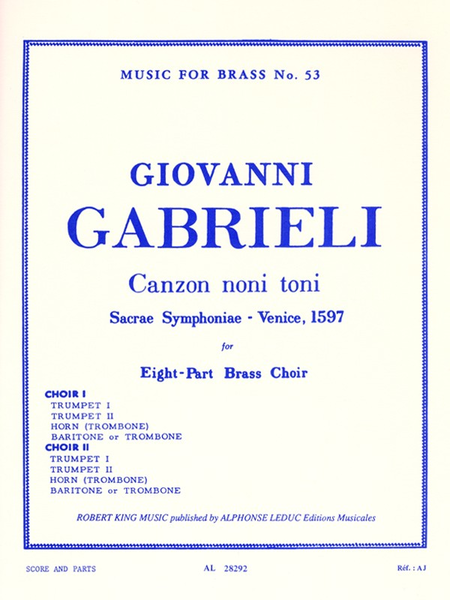 Canzon Noni Toni - Brass Octet