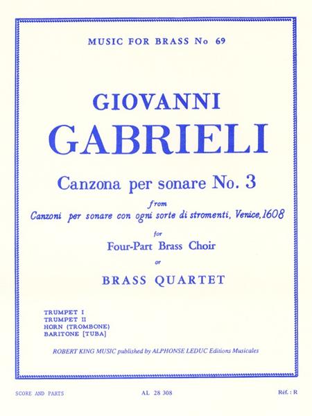 Canzona Per Sonare No.3 - Brass Quartet