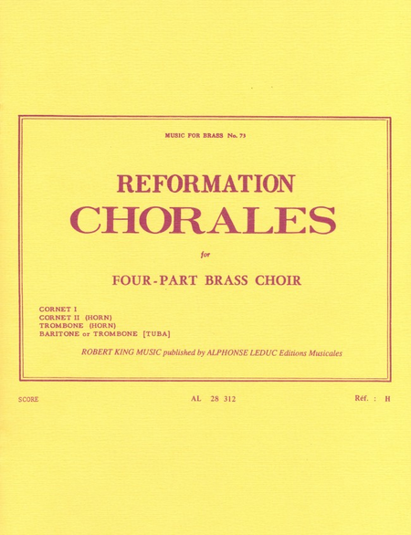 Reformation Chorales - Brass Quartet