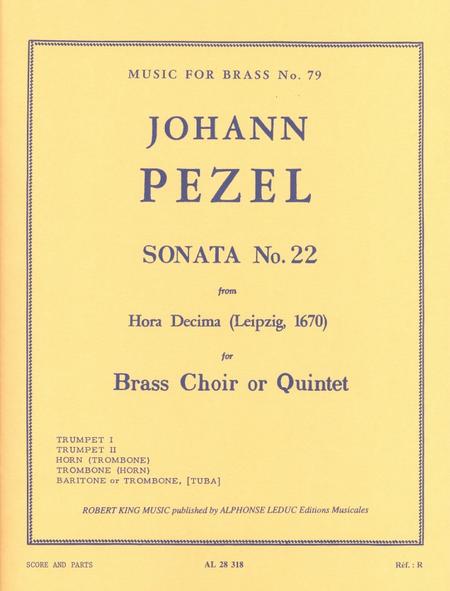 Sonata No.22 (Hora Decima) - Brass Quintet