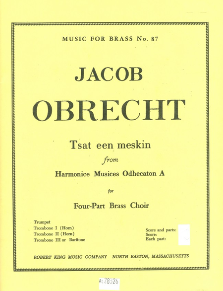 Tsat Een Meskin - Brass Quartet