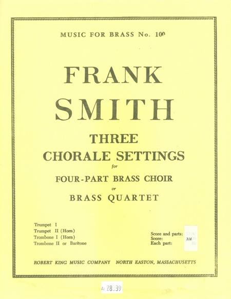 3 Chorale Settings - Brass Quartet