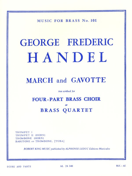March And Gavotte - Brass Quartet