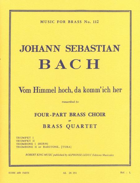 Vom Himmel Hoch Da Komm Jch Hr - Brass Quartet