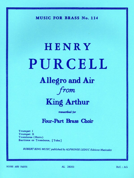 Allegro And Air Fr.King Arthur - Brass Quartet