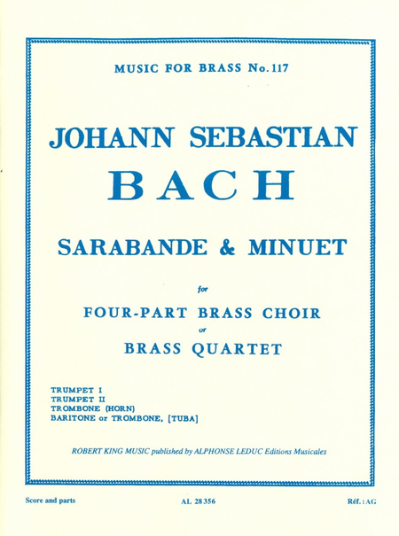 Sarabande And Menuet - Brass Quartet