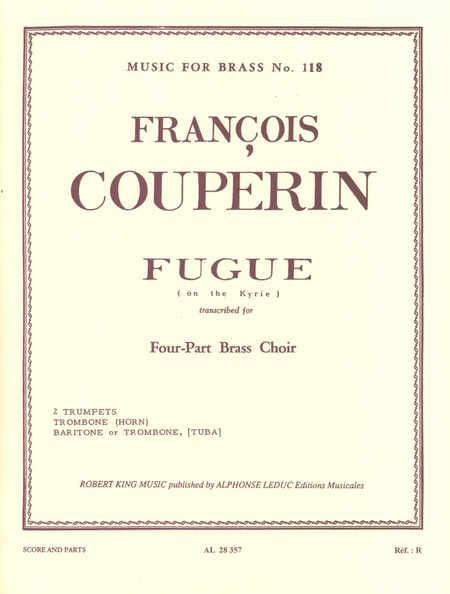 Fugue On The Kyrie - Brass Quartet
