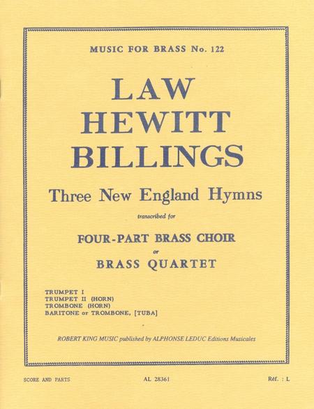 3 New England Hymns - Brass Quartet