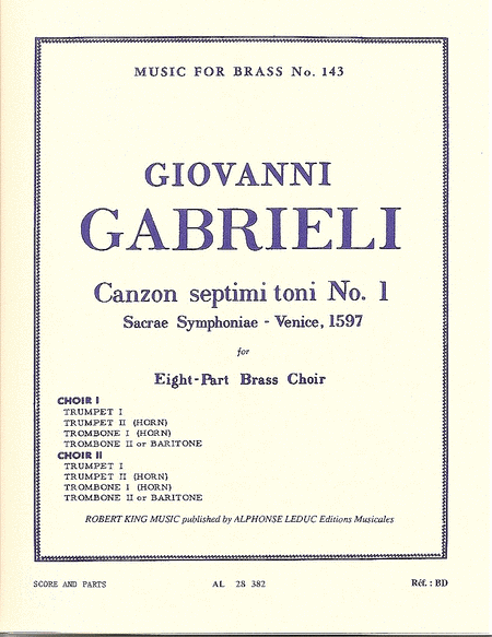 Canzon Septimi Toni No.1 - Brass Octet